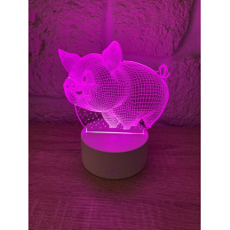 LED Lampa Ilúzia 3D Prasiatko