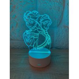 Lampe LED Illusion 3D Frozen