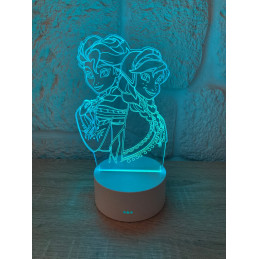 LED Lampa Ilúzia 3D Frozen