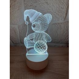 LED Lamp Illusion 3D Bear...