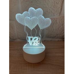 LED Lamp Illusion 3D Balon...