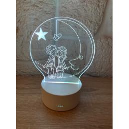 LED Lamp Illusion 3D Couple