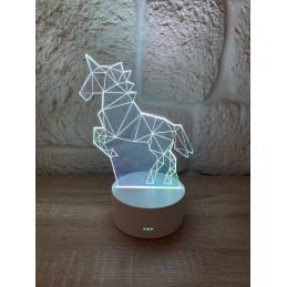 LED Lamp Illusion 3D Unicorn 1
