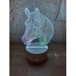 LED Lamp Illusion 3D Horse 1
