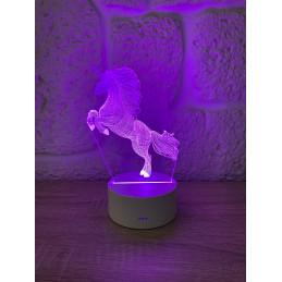 LED Lamp Illusion 3D Unicorn 2