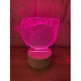 LED Lamp Illusion 3D Rose
