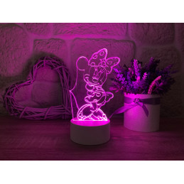 LED Lamp Illusion 3D Minnie