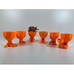 Vaso idroponico 6 pc Arancia