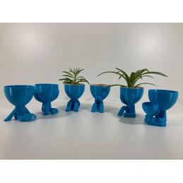 Hydroponic flowerpot 6 pc Blue