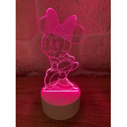 LED Lamp Illusion 3D Minnie 2