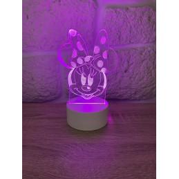 LED Lamp Illusion 3D Minnie 3