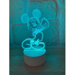 Lampada LED Illusion 3D Mickey