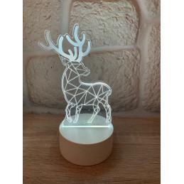 LED Lamp Illusion 3D Deer