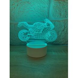 LED Lamp Illusion 3D Motorbike