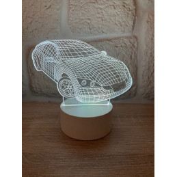 LED Lamp Illusion 3D Car