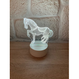 LED Lamp Illusion 3D Horse 3