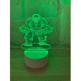 LED Lamp Illusion 3D Hulk