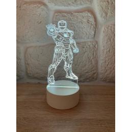 LED Lamp Illusion 3D Iron Man