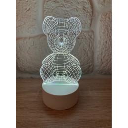 LED Lamp Illusion 3D Bear