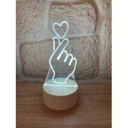 LED Lamp Illusion 3D Hand...