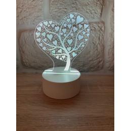 LED Lamp Illusion 3D Love tree
