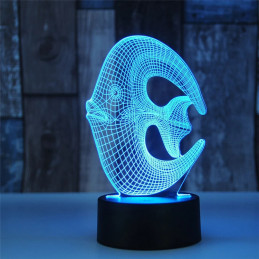 LED Lamp Illusion 3D Dory