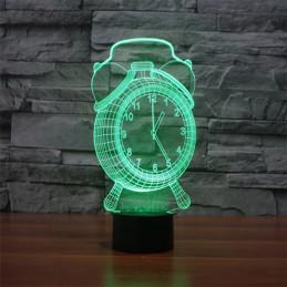 LED Lamp Illusion 3D Clock