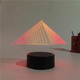 LED Lamp Illusion 3D Pyramid