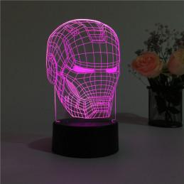 LED Lamp Illusion 3D Iron...