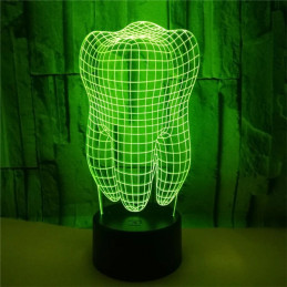 LED Lamp Illusion 3D Tooth