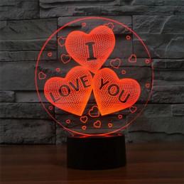 LED Lamp Illusion 3D 3...