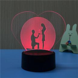 LED Lamp Illusion 3D Will...