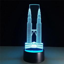LED Lamp Illusion 3D Burj...