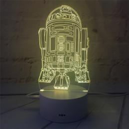 LED Lamp Illusion 3D Rocket