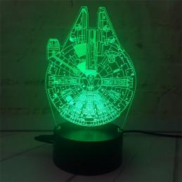 LED Lamp Illusion 3D Startrek