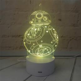 LED Lamp Illusion 3D UFO