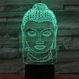 LED Lamp Illusion 3D Buddha