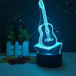 LED Lamp Illusion 3D Guitar