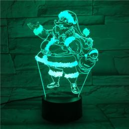 LED Lamp Illusion 3D Santa