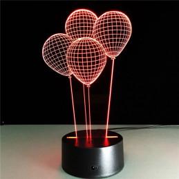 LED Lamp Illusion 3D Balloons