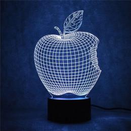 LED Lamp Illusion 3D Apple