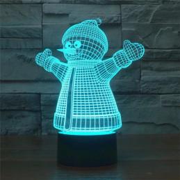 LED Lamp Illusion 3D Snowman