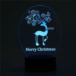 LED Lamp Illusion 3D Merry...
