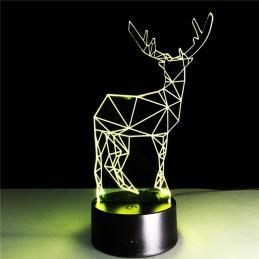 LED Lamp Illusion 3D Deer 4