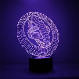 LED Lamp Illusion 3D Rings 1