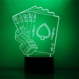 LED Lamp Illusion 3D Cards