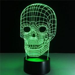 LED Lamp Illusion 3D Cranium