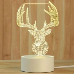 LED Lamp Illusion 3D Deer 5