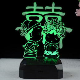 LED Lamp Illusion 3D Boy...