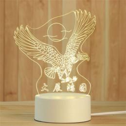 LED Lamp Illusion 3D Eagle